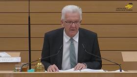 Alterspräsident Winfried Kretschmann